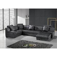 Divani Casa St. Petersburg - Modern Leather Sectional Sofa