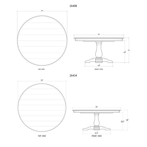 Trestle Round Dining Table