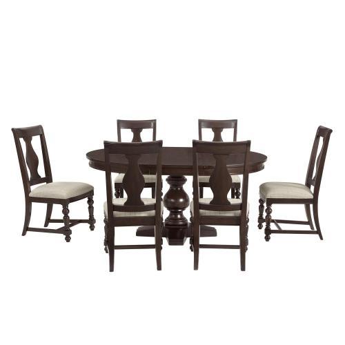 Rosemoor - Upholstered Splat Back Side Chair - Burnt Caramel Finish