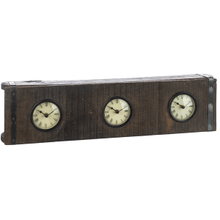 Triple Brick Mold Clock (Each One Will Vary)