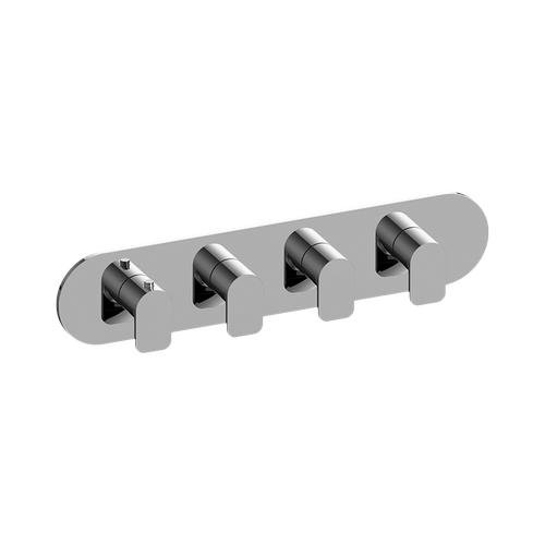 Sento M-Series Valve Horizontal Trim with Four Handles