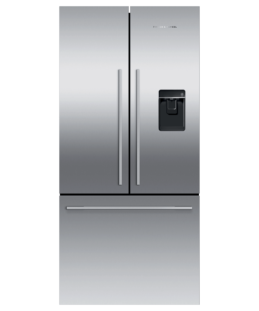 """Fisher & PaykelFreestanding French Door Refrigerator Freezer, 32"""", 17 Cu Ft, Ice & Water"""