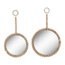 See Details - Natural Beaded Wall Mirror (2 pc. set)