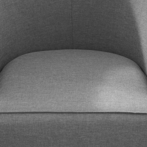 Modway - Anders Upholstered Fabric Accent Chair in Light Gray