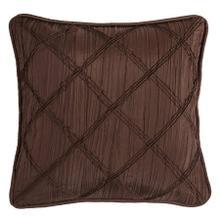 See Details - Loretta Batiste Throw Pillow W/ Ruching, Chocolate