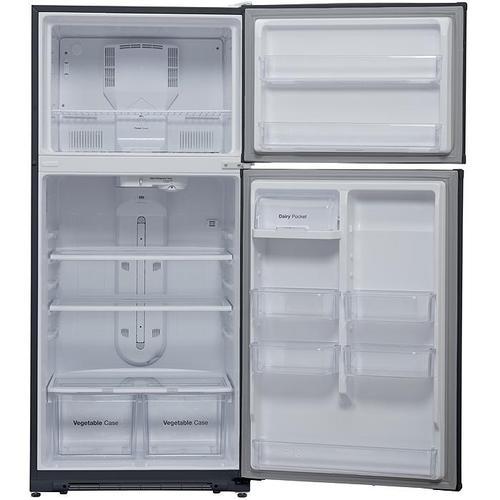Winia - 18.2 cu. ft. Top Mount Refrigerator - Fingerprint Resistant Stainless Steel