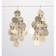 BTQ Gold Disc Earrings