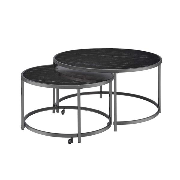 See Details - Rayne Nesting Cocktail Table, Black