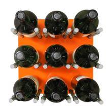 9 Bottle Acrylic Peg Wine Racks (Orange)