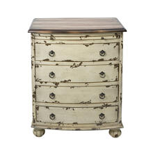 See Details - White Distressed Two Tone Drawer Chest