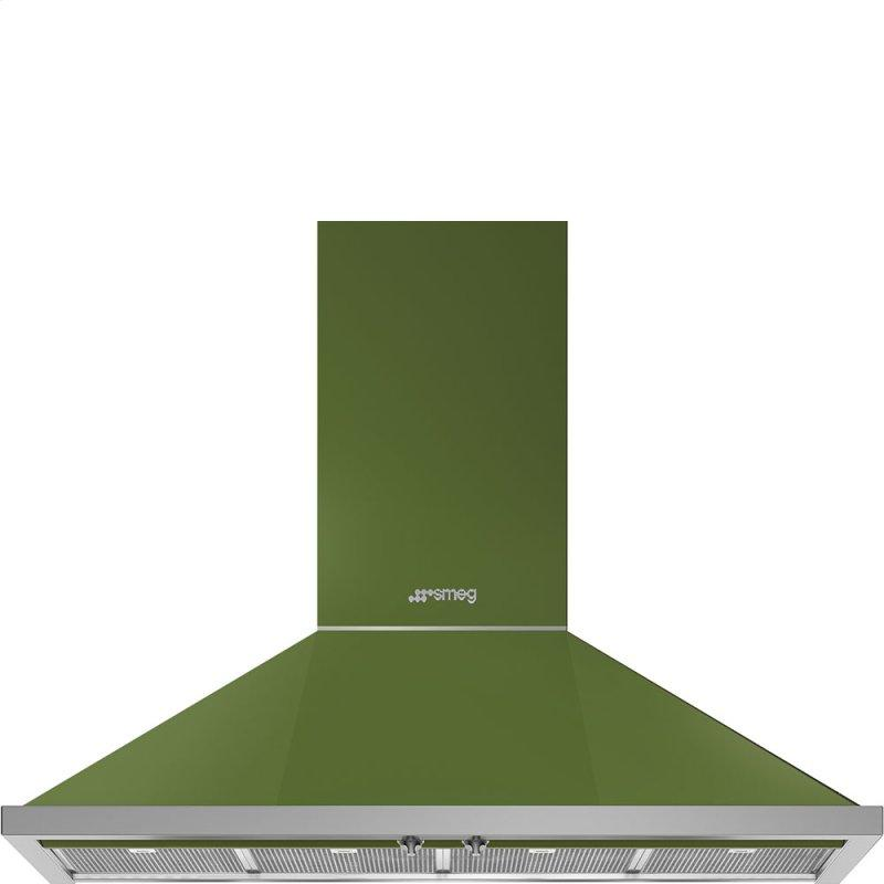 "48"" Portofino Chimney Hood, Olive green"