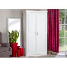 20900113 - Solid Wood Hakon 2-Door Wardrobe, Whitewash
