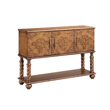 Corvallis Carved Front Console
