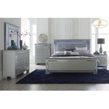 California King Bed, LED Lighting