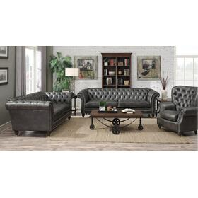 Emerald Home Capone Sofa & loveseat Charcoal