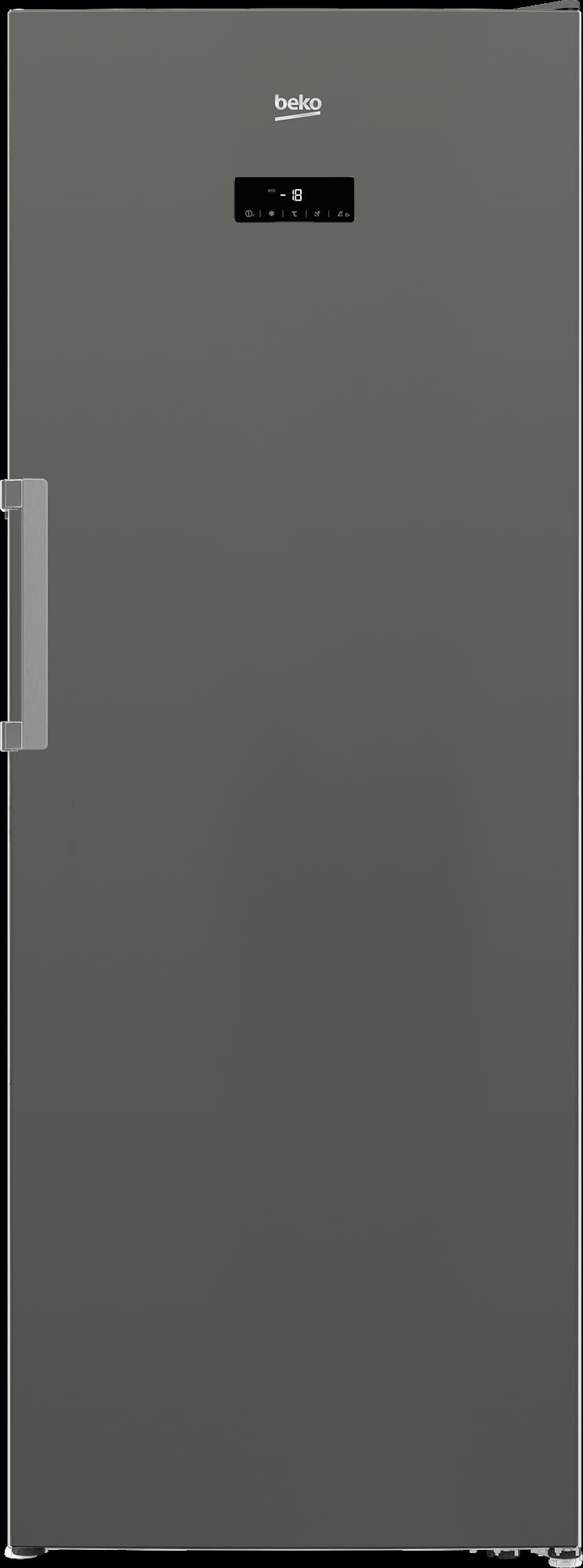 "Beko28"" Manhattan Grey Upright Freezer"