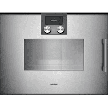 200 Series Combi-steam Oven 24'' Gaggenau Metallic, Door Hinge: Left, Door Hinge: Left