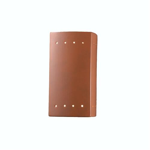 Small ADA Rectangle w/ Perfs Outdoor Wall Sconce