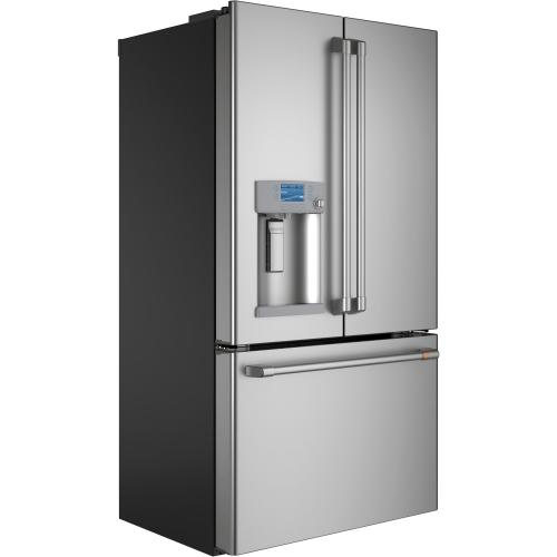 GE Appliances - Café ENERGY STAR® 22.2 Cu. Ft. Counter-Depth French-Door Refrigerator with Hot Water Dispenser