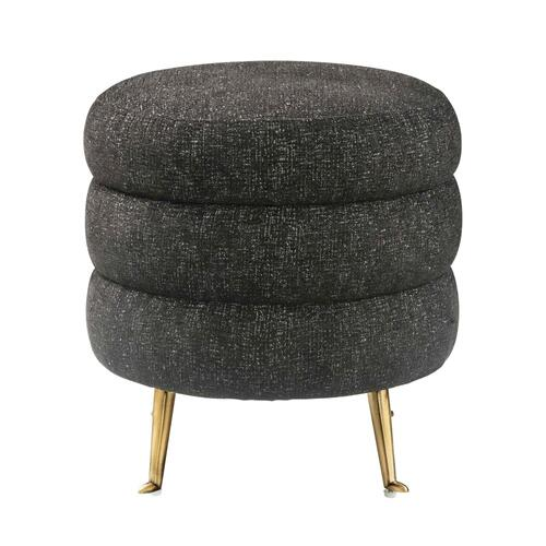 Tov Furniture - Ladder Black Tweed Ottoman