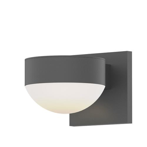 Sonneman - A Way of Light - REALS® Up/Down LED Sconce [Color/Finish=Textured Gray, Lens Type=Plate Lens and Dome Lens]