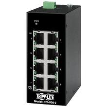 See Details - 8-Port Unmanaged Industrial Ethernet Switch - 10/100 Mbps, Ruggedized, -40° to 75°C, DIN Mount