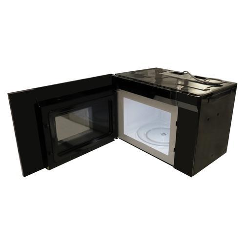"""XO Appliance - 24""""W OTR 1000W 300CFM 1.34 cu ft - Black Glass"""