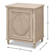 See Details - Ribbon One Door Commode, Stone Grey