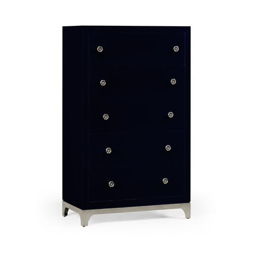 Tall chest with blazer buttons (British Navy/Silver)