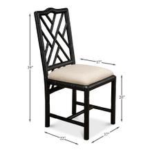 Brighton Bamboo Side Chair,Black