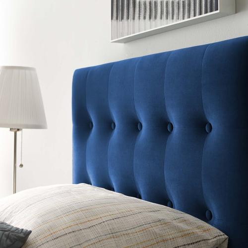 Modway - Emily Twin Biscuit Tufted Performance Velvet Headboard in Navy