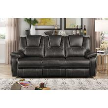 8086 GRAY Manual Recliner Air Leather Sofa