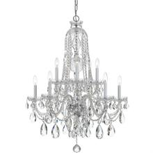 Traditional Crystal 10 Light C lear Swarovski Strass Crystal Chrome Chandelier