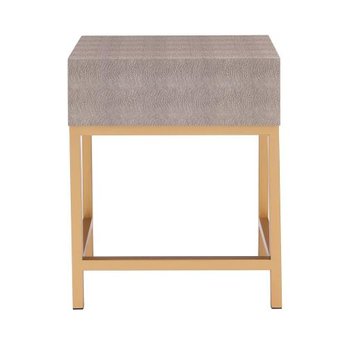 Product Image - Durham Faux Shagreen Side/ End Table 1 Drawer, Chronicle Gray *