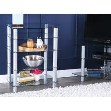Everest Component Stand - Silver/ Glass