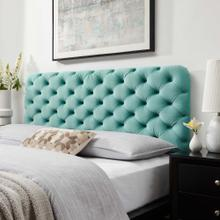 Lizzy Tufted Full/Queen Performance Velvet Headboard in Mint