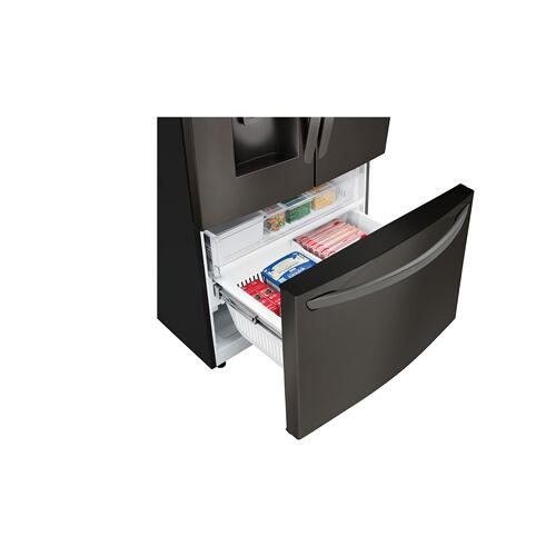 LG - 22 cu. ft. Smart wi-fi Enabled French Door Counter-Depth Refrigerator