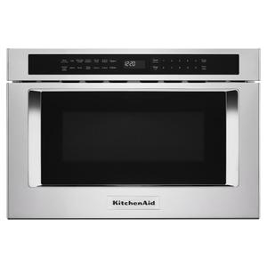 "KitchenAid24"" Under-Counter Microwave Oven Drawer - Stainless Steel"