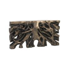 See Details - Square Root Console Table Resin, Antique Bronze Finish