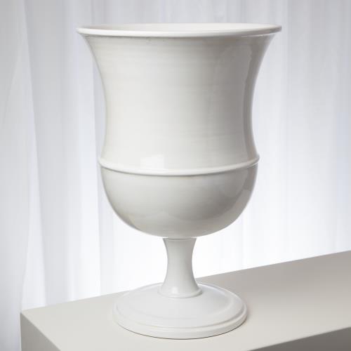 Classic Urn-White-Lg