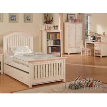 Cream / Peach Twin Size Bedroom Set