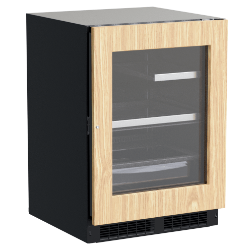 Gallery - 24-In Professional Built-In Refrigerator With 3-In-1 Convertible Shelf, Maxstore Bin And Reversible Hinge with Door Style - Panel Ready Frame Glass