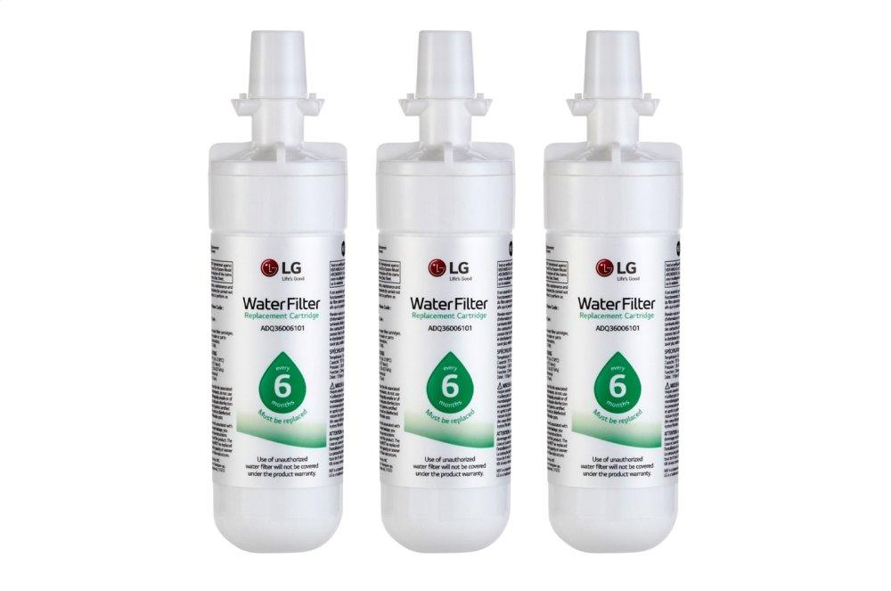 LG LT700P® - 6 Month / 200 Gallon Capacity Replacement Refrigerator Water Filter 3-Pack (NSF42 and NSF53*)