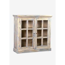 See Details - Promenade Glass Pane Two Door Cabinet