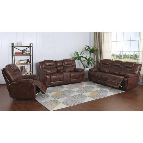 Product Image - Power Dual Reclining Sofa - Brown Leather Gel (ZY5018A Collection)