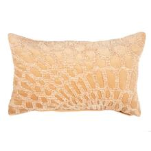 Alden Lumbar Embroidered Pillow, Gold