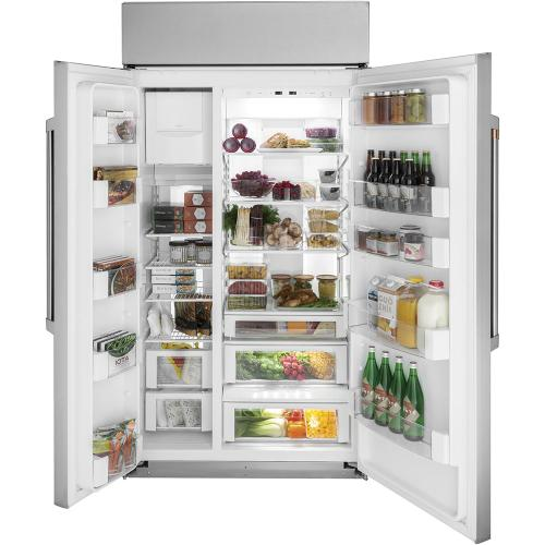 """Café ™ 48"""" Built-In Side-by-Side Refrigerator Stainless Steel"""