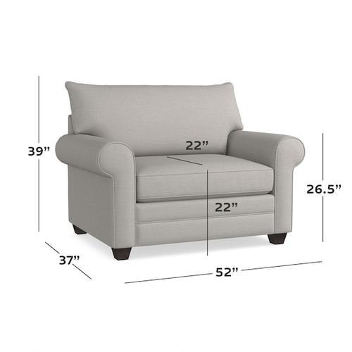 Alexander Roll Arm Chair and a Half