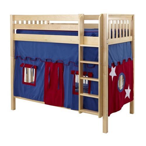 Maxtrix - Under Bed Curtain : Blue/Red
