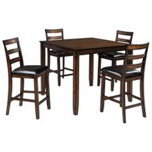 Coviar Table & 4 Chairs Brown